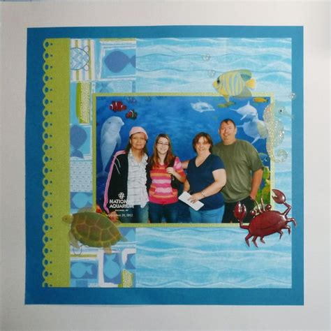 scrapbook layout aquarium pin by linda ohlemacher on scrapbooking pinterest