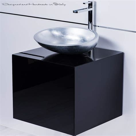 Dora Black Lacquered Bathroom Vanity 20 Inch 20 In Bathroom Vanity