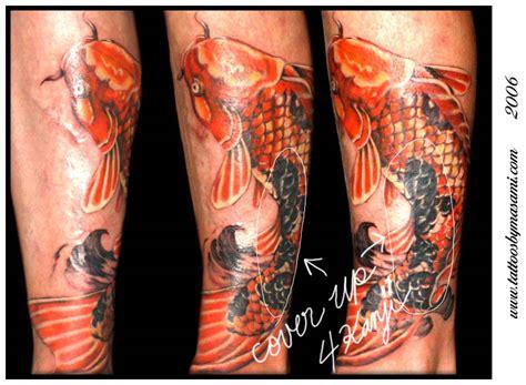 koi gemini tattoo koi cover up by masami pinky inagaki tattoonow