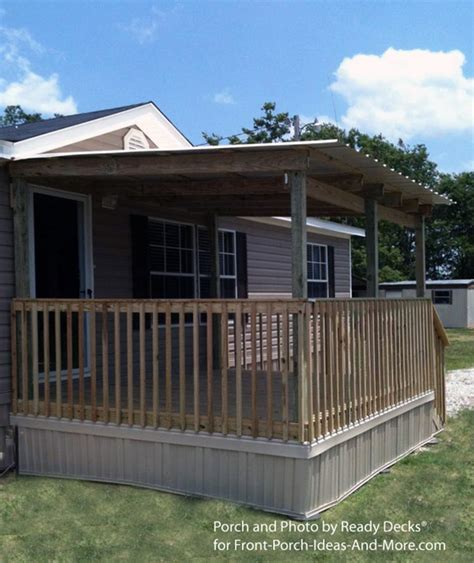 mobile home front porch designs