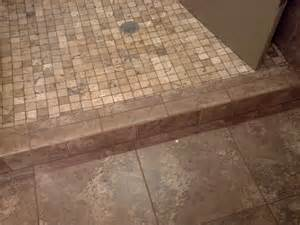 shower curb tile ideas rod