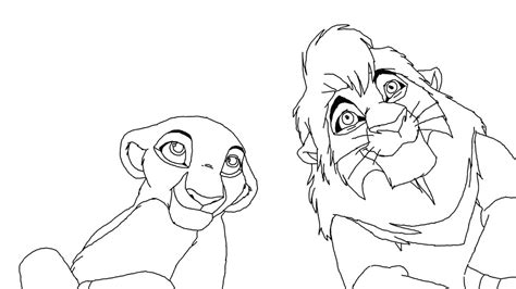 lion king kovu and kiara coloring pages kovu and kiara base by scarzdaughter on deviantart