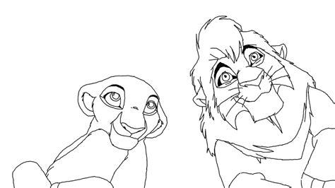 lion king kiara coloring pages kovu and kiara base by scarzdaughter on deviantart