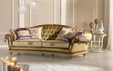 Fancy Sofas by Sofa With Tufted Back For Classic Living Room Idfdesign