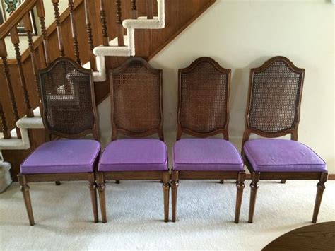Formal Dining Room Chair Cushions Four 4 Formal Dining Room Chairs With Purple Seat