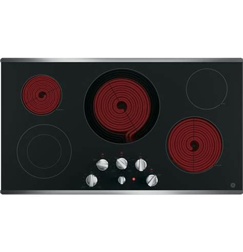 jp3536sjss ge 36 quot built in knob electric cooktop