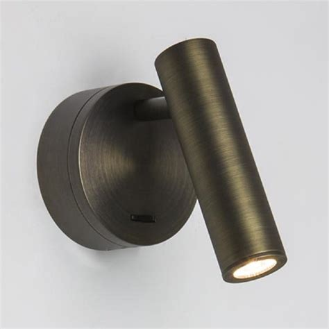 Contemporary Foyer Furniture Over Bed Led Book Light Bronze Finish With Integral Switch