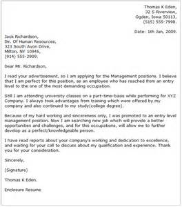 Sports Cover Letter Exles by Management Cover Letter Exles
