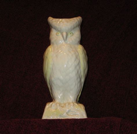 Belleek Owl Vase by White Belleek Owl Vase Gold From
