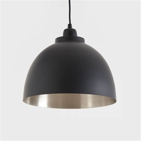 black light light black and nickel pendant light by horsfall wright
