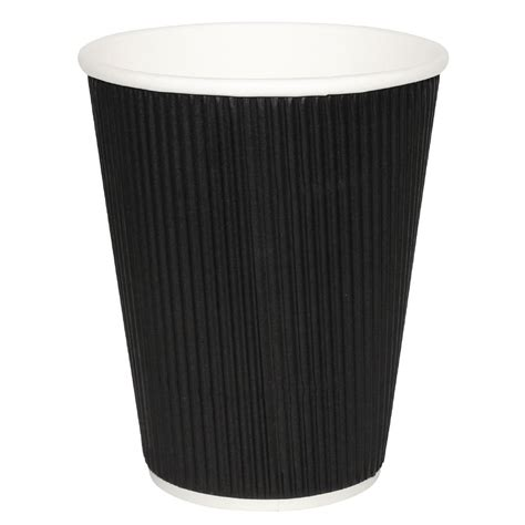 kraft cups double wall ripple coffee cups and lids fiesta takeaway coffee cups ripple wall kraft black 340ml