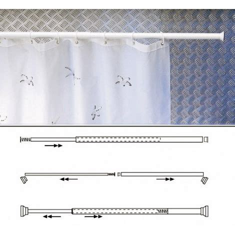 barra para ducha barra para cortina ducha extensible aluminio blanc a101