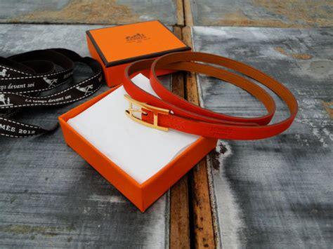 Hermes HAPI 3mm Leather Wrap Bracelet