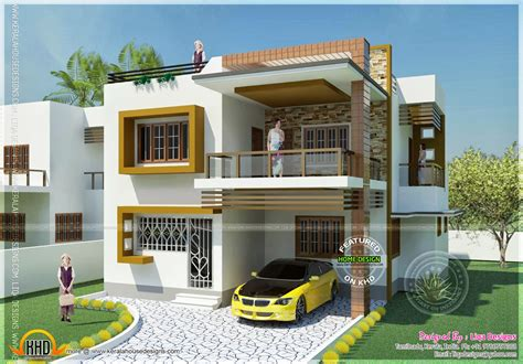 home architecture design for india double storied tamilnadu house design n plans bedroom with