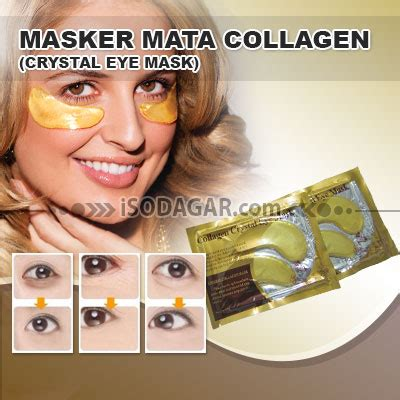 Collagen Mata masker mata collagen eye mask isodagar