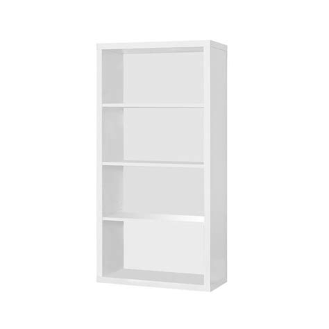 bookcase with adjustable shelves 48 quot bookcase with adjustable shelves in white i 7059