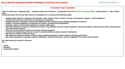 Work Experience Letter For Green Card 100 Work Experience Certificate Format For Receptionist Work Experience