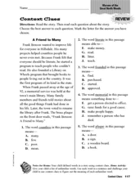 the open boat vocabulary exercise using context clues answers context clues quot marvin of the great north woods quot worksheet