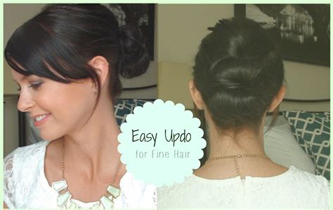 easy to make hairstyles for thin hair easy updo for fine hair youtube