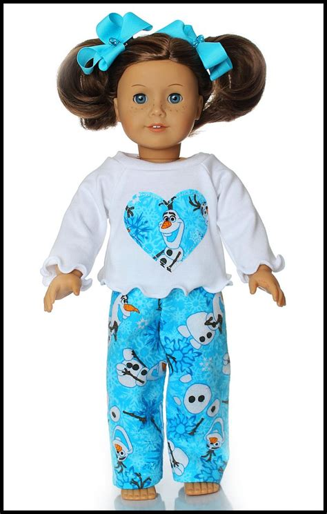 shirt pattern for american girl doll 18 inch american girl doll clothes olaf flannel pajamas by