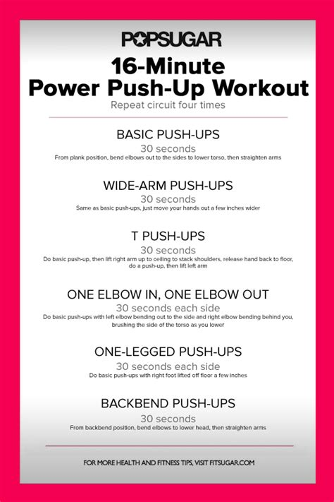 push up circuit workout poster popsugar fitness