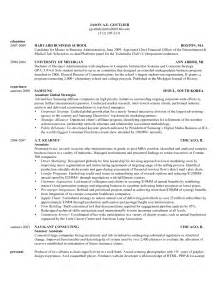 hbs resume template school resumes harvard business school