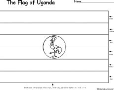 coloring page uganda flag search results for blank lessonplan templates calendar