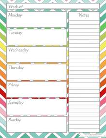 printable weekly calendars weekly calendar template