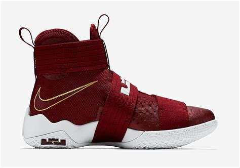 Lebron Soldier 11 Cavs Maroon team lands on the nike lebron zoom soldier 10
