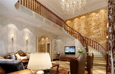 Villa Stairs Design Villa Staircase Wall Reliefs