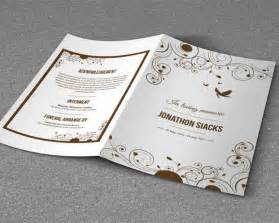 Free Funeral Brochure Templates by Funeral Brochure Templates Free Psd Templates Creative