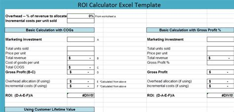 Roi Calculator Excel Template Excel Perks Online Free Excel Templates Tips Roi Chart Excel Templates