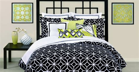 black and white geometric comforter total fab modern black and white geometric themed bedding
