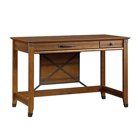 sauder carson forge desk washington cherry finish sauder carson forge writing desk washington cherry finish