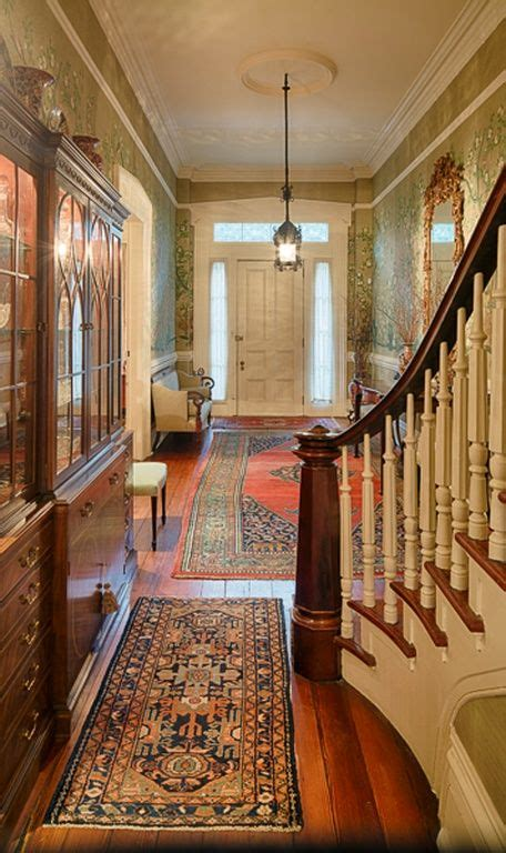 colonial foyer images  pinterest stairs entry