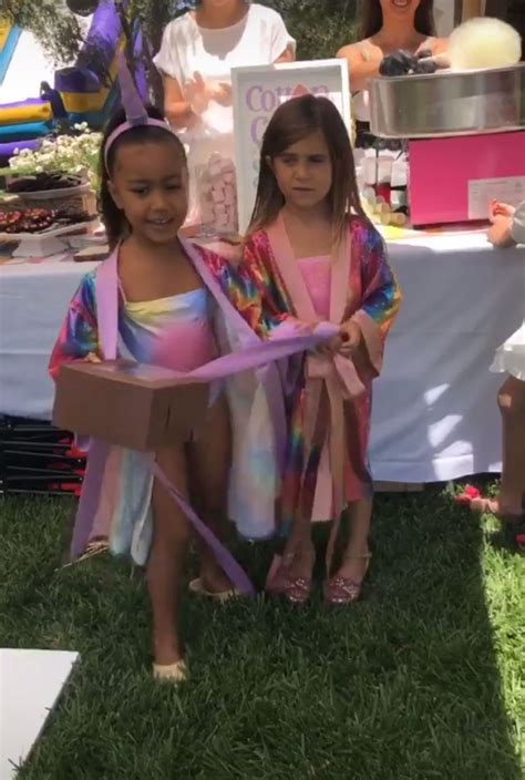 kim kardashian north west birthday party north west and penelope disick have unicorn themed