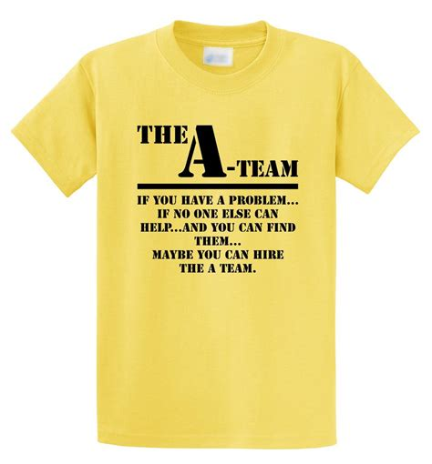 t shirt team the a team t shirt retro 80 s words tv show unisex