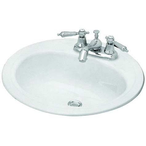 round bathroom sink shop briggs homer white enameled steel drop in round bathroom sink with overflow at