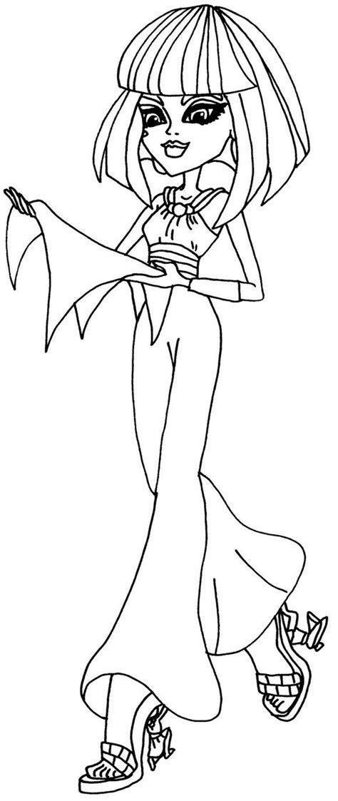 monster high halloween printable coloring pages cleo de nile monster high coloring pages haunted