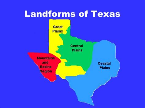 landform map of texas tx history ch 2 1