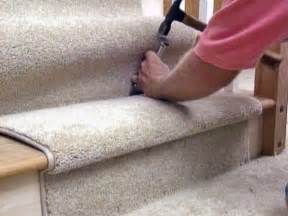 how to install carpet tiles on stairs