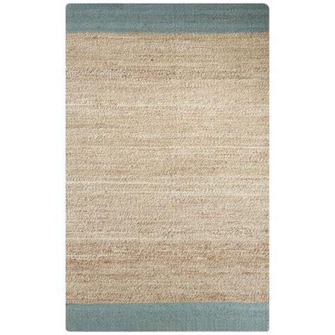 jute rug 9x12 jaipur naturals border pattern blue jute area rug 9x12