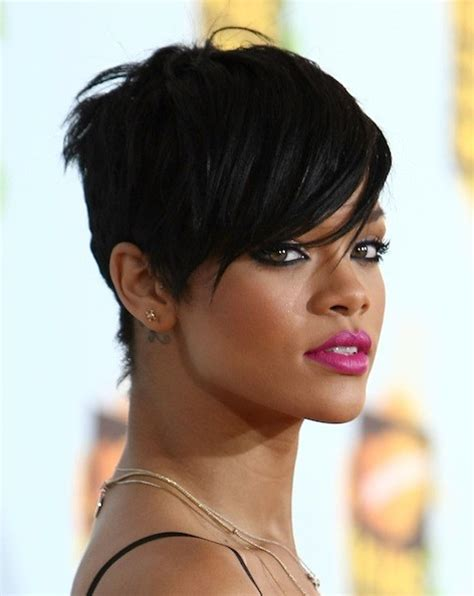 rihanna images of front and back short hair styles rihanna the cutest celebrity pixie haircuts stylebistro