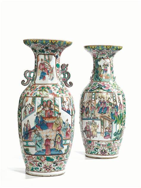 valutazione vasi cinesi coppia di grandi vasi manifattura di canton cina sec xix