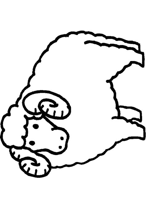 free coloring pages of sheep body