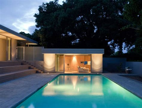 simple pool house simple home with a pool interiorzine
