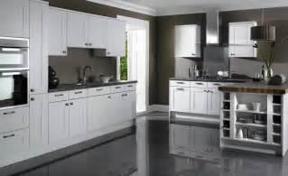 Kitchen design with gray cabinets under blue shaker kitchen cabinets