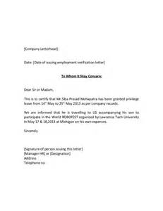 Work Certification Letter Sample To Whom It May Concern Cover Letter Sample For Nursing Graduate