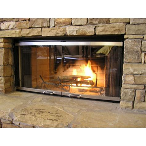 fireplace replacement glass for prefab fireplace doors