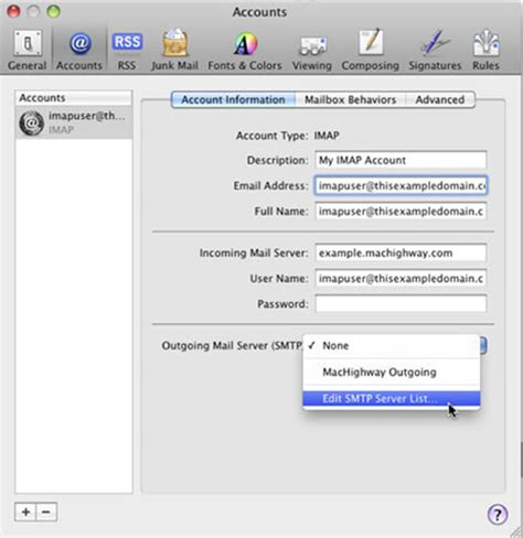 apple layout update email setup outgoing mail authentication in apple s mail app